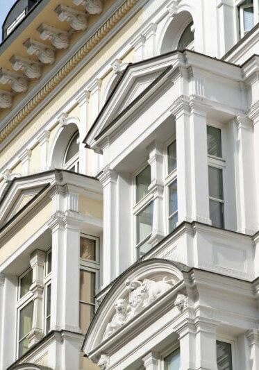 Fassade eines alten Gebäudes